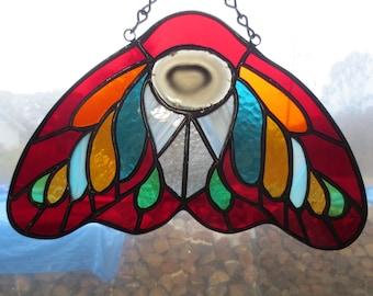 Moth Stained Glass Suncatcher