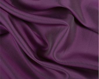 Fuschia/White Silk/Wool Gab, Fabric By The Yard