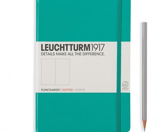 Ideal Bullet Journal Notebook - Leuchtturm1917 - Dot Grid - Various Colours, Great Gift Idea. Dotted Bujo or Journal.