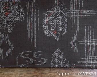 Japanese fabric, 1/2 yard, Asanoha/Kikkou/Kasuri, Brown, Dobby weave, 100% cotton