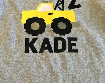 Construction Truck Birthday Shirt