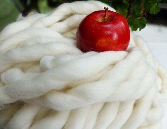 """Super Bulky Yarn, Giant Chunky Hand Spun Yarn, Super- THICK Yarn, """"Smoosh Yarn"""", Extreme Hand Spun yarn"""