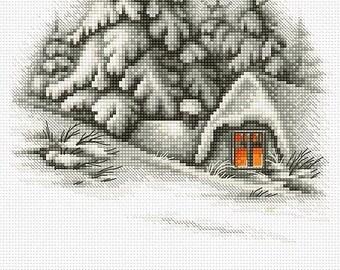 Winter Landscape SB2279 - Cross Stitch Kit by Luca-s