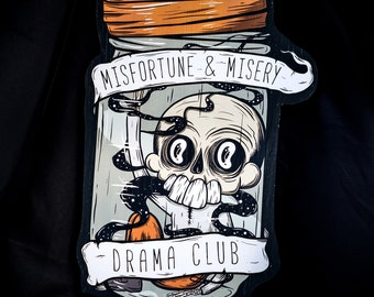 "Misfortune and Misery - 16"" x 12""  - Original Wood Print Cut-Out by Manic Lawd"