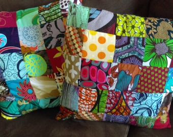 African Patchwork Pillowcases