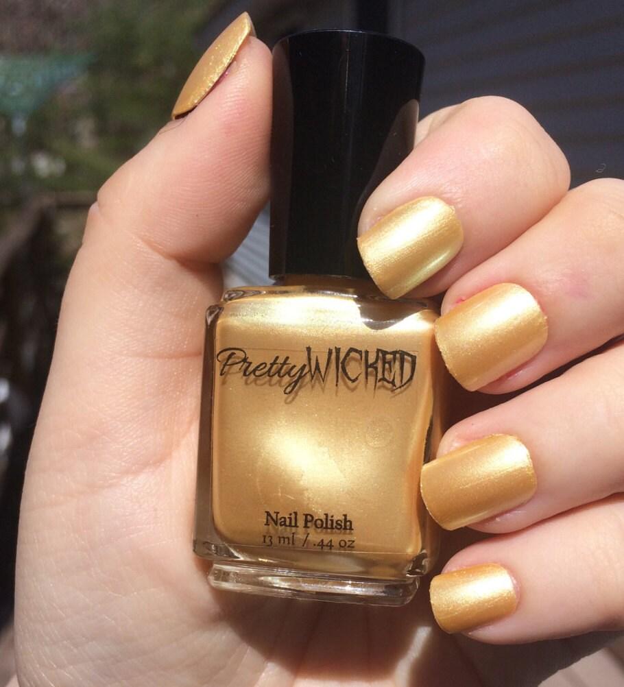 Esmalte de uñas amarillo Pastel metalizado, Helga polaco, pálido ...