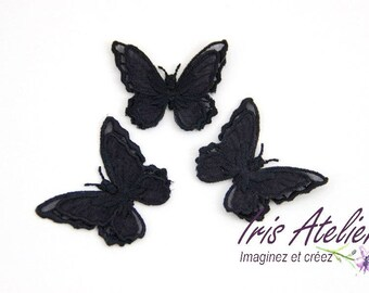 Butterfly 1 insult embroidered double wings individually