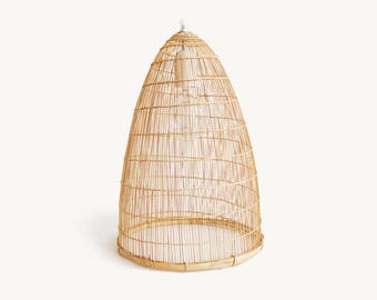 Bamboo Pendant Lamp, Woven Bamboo Lamp, Lamp Shade, Cone