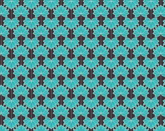 Minshan A119-3 Turquoise Lotus Flower Lewis & Irene Patchwork Quilting Fabric