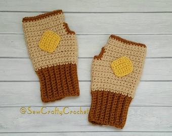Buttered Toast Fingerless Gloves
