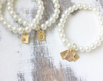 Initial Pearl Bracelet