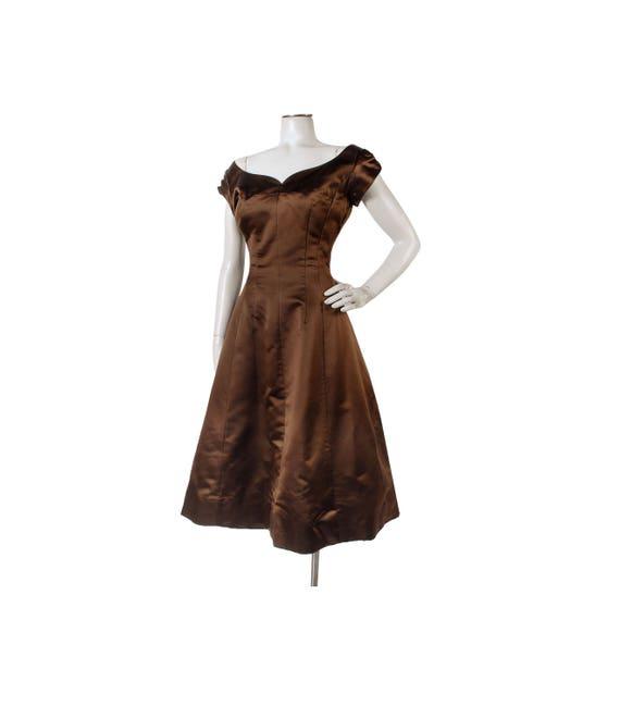 Vintage 50er Jahre Kleid 50er Jahre Kleid Partei braune