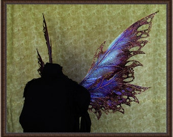 Adult Fairy Wings**Iridescent Purple/Wine/Gold**FREE SHIPPING**Costume/Masquerade/Cosplay/Weddings/Renn Faires