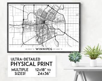 Every Road in Winnipeg map poster, Winnipeg print, Winnipeg map print, Manitoba map, Winnipeg city map, Winnipeg poster, Winnipeg wall art