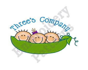 Threes Company - Machine Embroidery Design