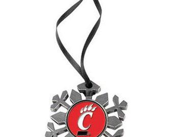 Cincinnati Bearcats Snowflake Ornament