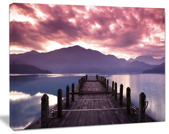 Beautiful Spring Sea at Morning in Landscape Canvas Art Print and Metal Wall Art in Different Sizes (PT6841)