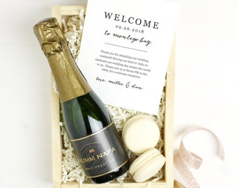 Printable Wedding Welcome Bag Letter, Wedding Welcome Note, Thank You, Destination Itinerary, Agenda, Hotel Card - INSTANT DOWNLOAD