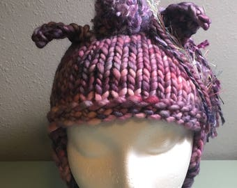 Small Merino Wool Unicorn Fall Winter Handknit Hat