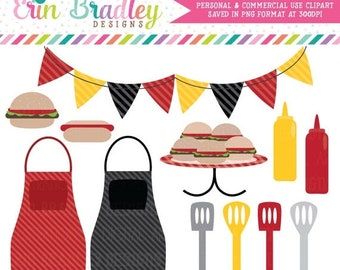 80% OFF SALE BBQ Picnic Clipart Commercial Use Clip Art Graphics Instant Download