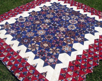 Nautical Wheels Patchwork Quilt, Blanket, Throw - Full or Queen Size