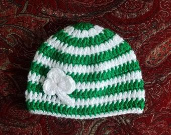 St Patrick's Day crochet beanie