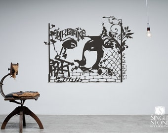 Urban Graffiti Wall Decal - Wall Pattern Vinyl Text Wall Words Stickers Art Graphics Custom Home Decor