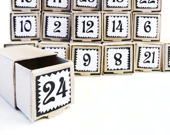Advent calendar, DIY calendar, Christmas calendar, Calendar for Christmas, little Christmas gift boxes