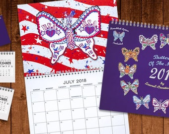 Butterfly of the Month Calendar including Hanukkah