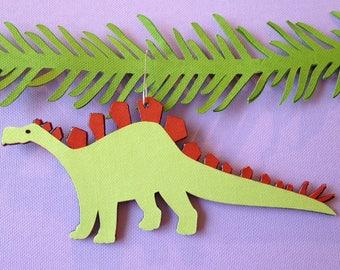 Stegosaurus Christmas tree ornament