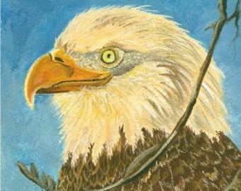 American Bald Eagle Painting Reproduction Limited Edition