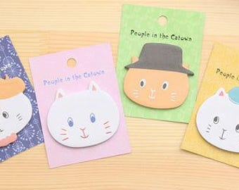 NEW!Kawaii Cat with Hat Sticky Note