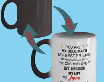 I Love You Color Changing Mug True Love Forever Wife Husband Partner Fiance Boyfriend Girlfriend