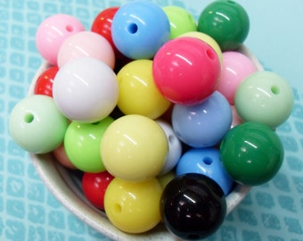 10x 18mm Resin Multi color Globe beads .. Candy Fun
