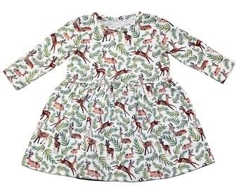 Girls Loved Dearly Dress - Deer Dress - Girls Dress - Toddler Dress - Baby Dress - Woodland Dress - Birthday Dress - Party Dress - Dresses