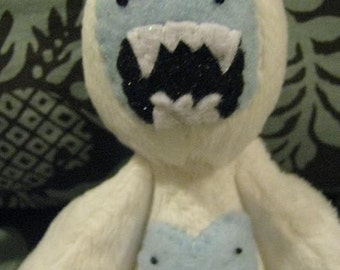 Yeti -Abominable Snowman Sofite/Stuffed Animal with movable arms and legs