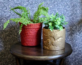 Red Basket Planter or Catchall