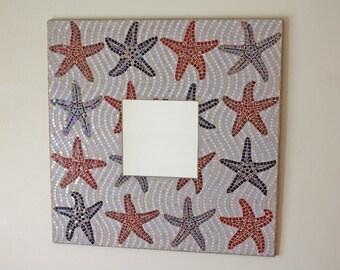 Starfish Iridescent Mosaic Mirror