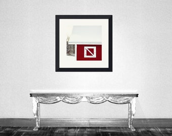Id Rather Be Diving - Barn window diving flag Bard red and snow white barn red winter deco Nice gift for your diver friends