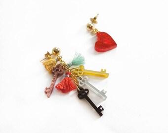 Keys of Heart Earrings / Love Talismans Collection.