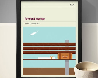 FORREST GUMP Inspired Movie Poster, Movie Print, Film Poster, Retro Poster