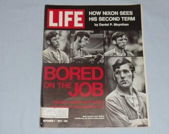 Life Magazine September 1, 1972 Bored on the Job