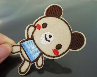 Iron On Patch - Cute Bear Patch Applique embroidered patch Sew On Patch
