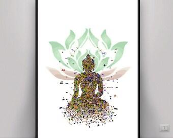 Buddha Art, Lotus Art, Meditation Art, DIGITAL ART, Digital print, Mindful Art, Zen Art, Peaceful Art, Art, DOWNLOAD Pictures, Yoga Art