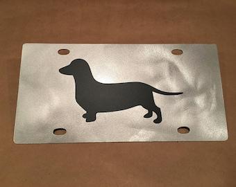Dachshund License Plate (Aluminum)