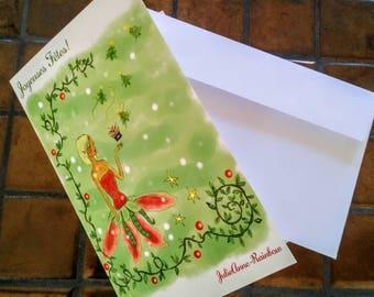 Greeting card 'Fairy Christmas'