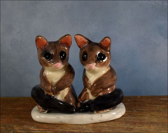 possum wedding cake topper, Australian pottery by Anita Reay AnitaReayArt ceramic  figurine Australian wedding cake topper