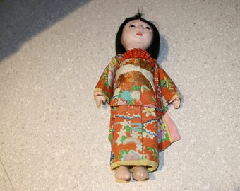 Vintage oriental doll from the 1960's