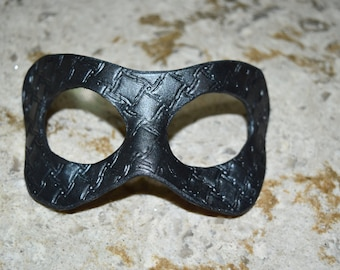 Metal grating look, Steampunk Leather masks - this one available now