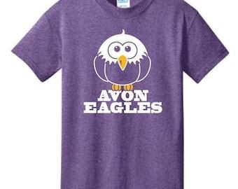 Heather Purple Avon Eagles T-Shirt - S